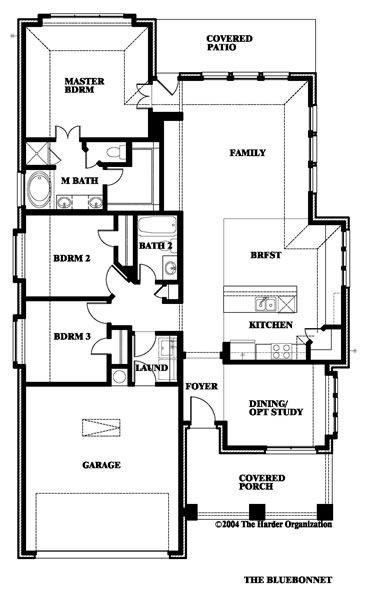 Bluebonnet Home Plan By Bloomfield Homes In Paloma Creek