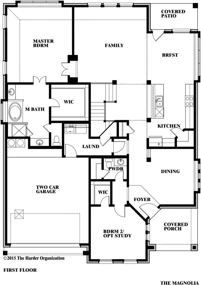 Magnolia ii home plan by bloomfield homes in classic series for Magnolia homes floor plans