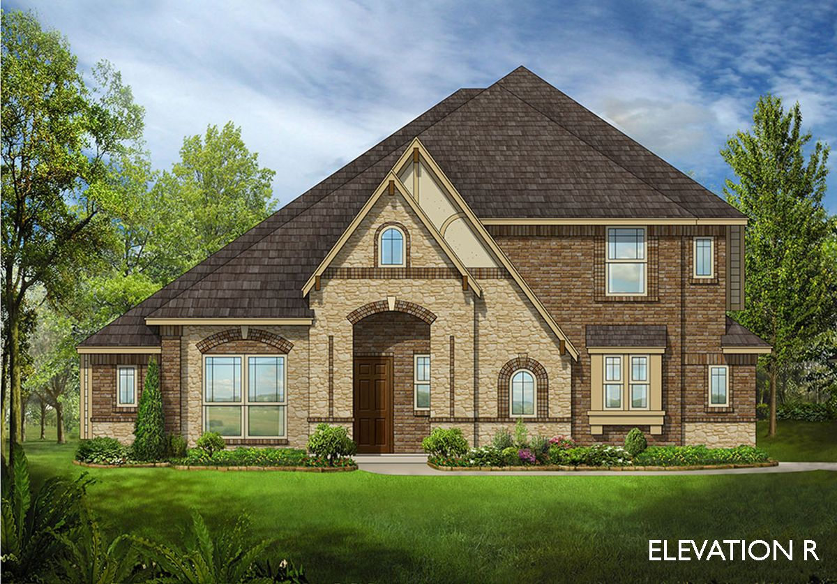 Carolina iii side entry home plan by bloomfield homes in for Two story farmhouse oak park