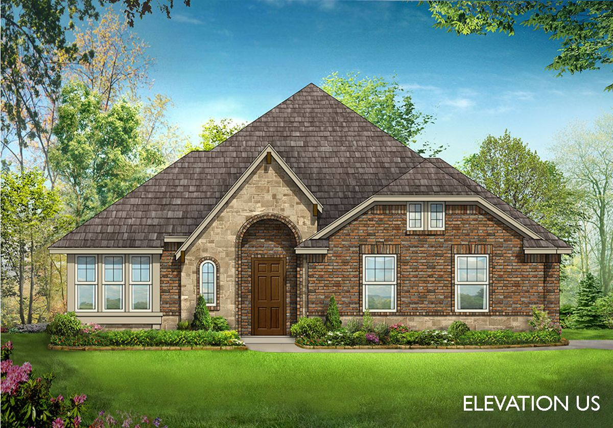 Cypress side entry home plan by bloomfield homes in for Two story farmhouse oak park