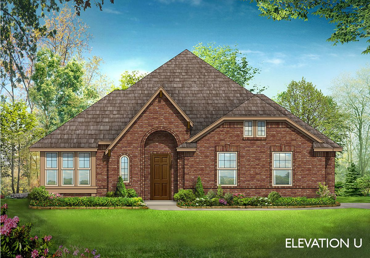 Cypress ii side entry home plan by bloomfield homes in for Two story farmhouse oak park