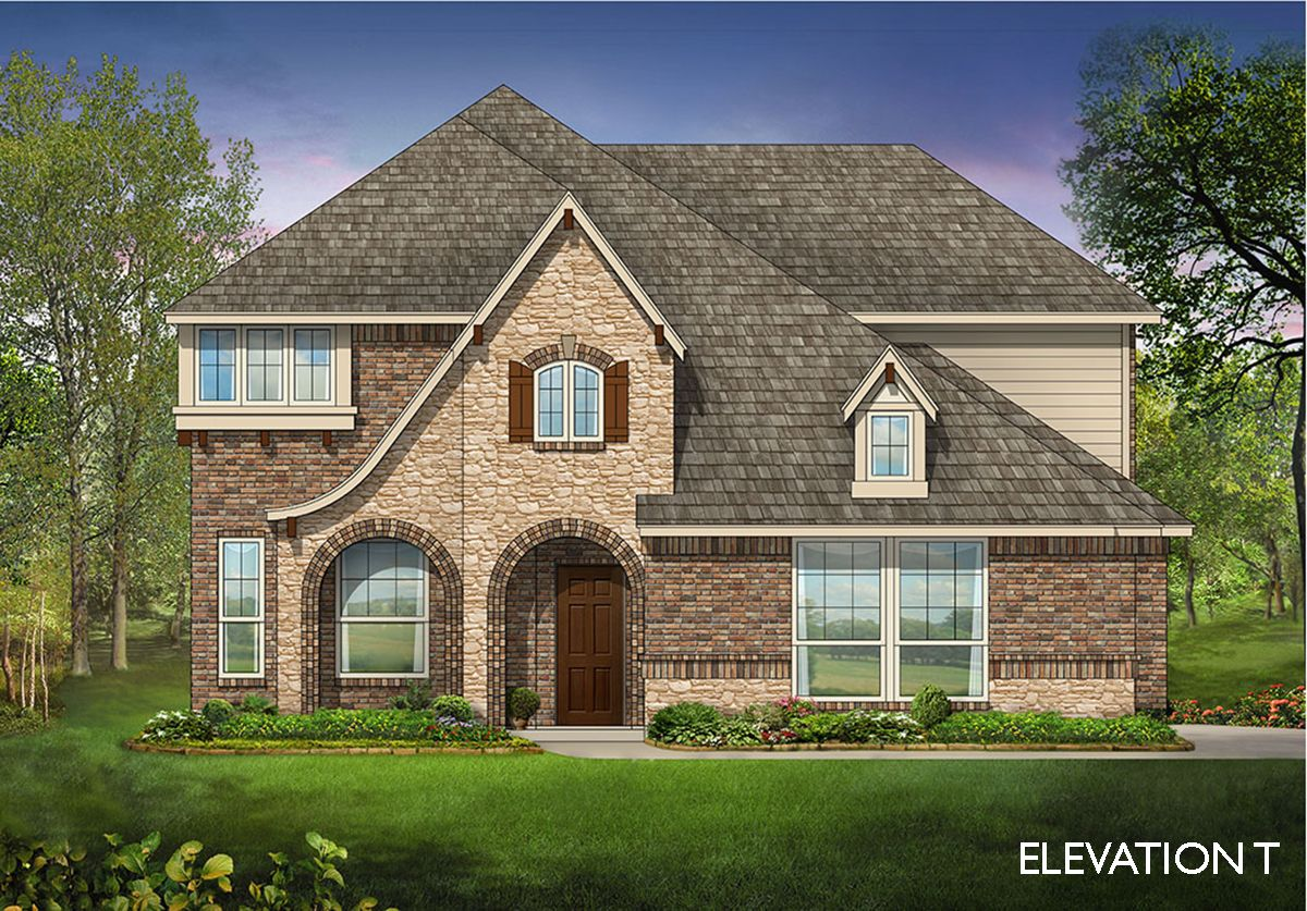 Dewberry side entry home plan by bloomfield homes in for Two story farmhouse oak park
