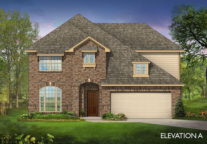 Exterior featured in the Dewberry III By Bloomfield Homes  in Dallas, TX