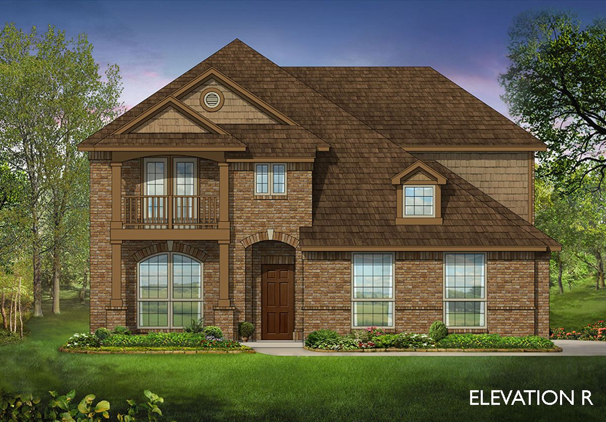 Dewberry ii side entry home plan by bloomfield homes in for Two story farmhouse oak park