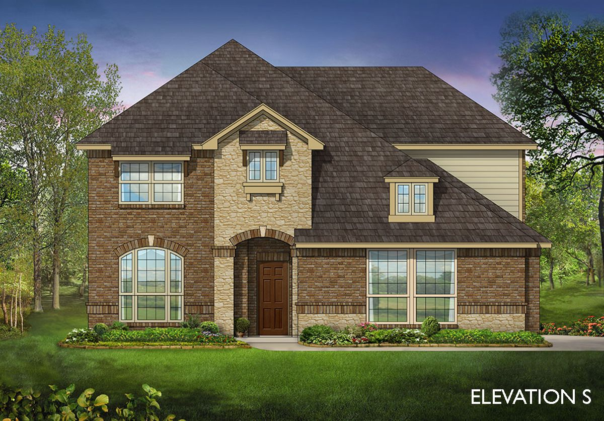 Exterior featured in the Dewberry II Side Entry By Bloomfield Homes in Dallas, TX