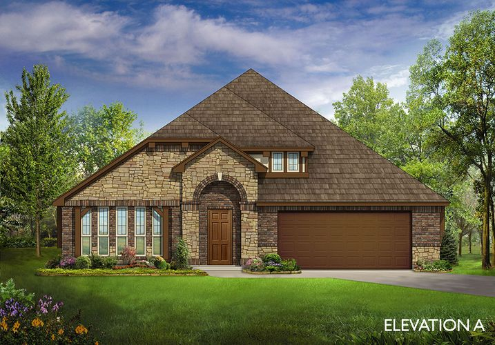 Exterior featured in the Hawthorne II By Bloomfield Homes  in Dallas, TX