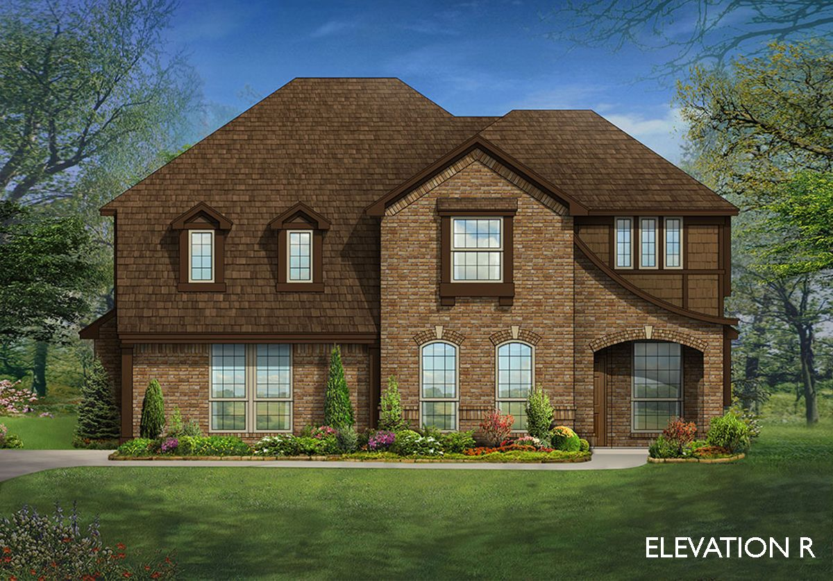 Magnolia side entry home plan by bloomfield homes in for Two story farmhouse oak park