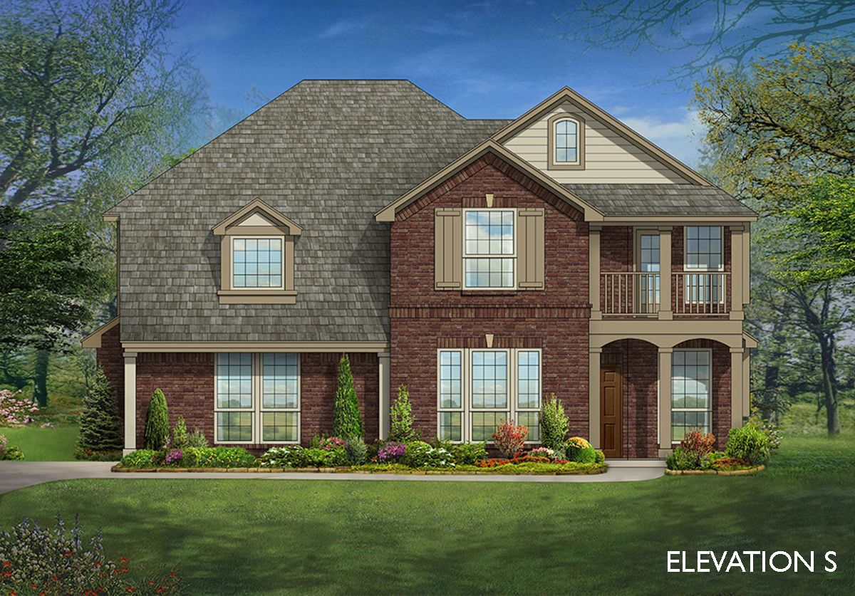 Magnolia iii side entry home plan by bloomfield homes in for Two story farmhouse oak park