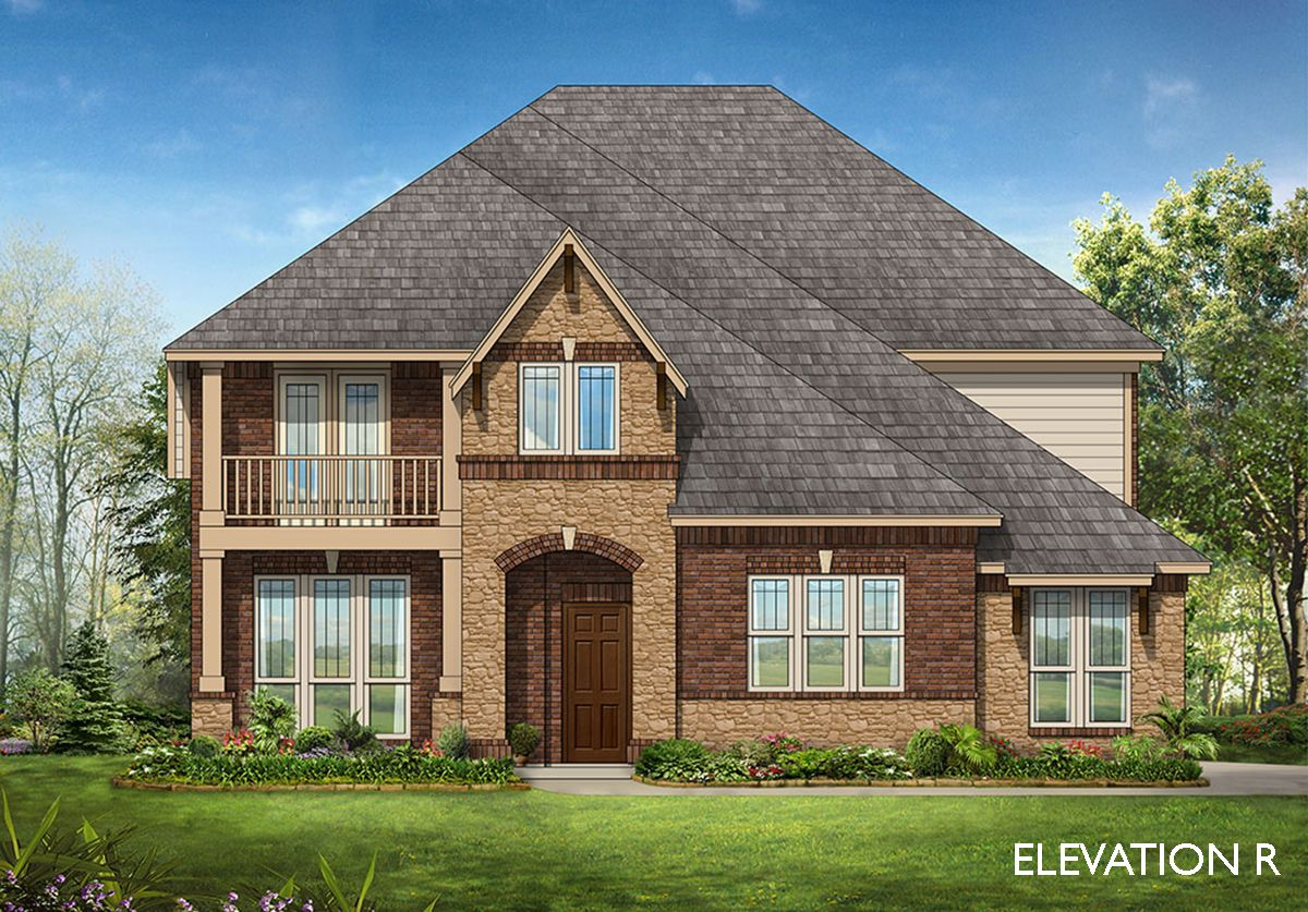 Wisteria se home plan by bloomfield homes in kentsdale farm for Two story farmhouse oak park