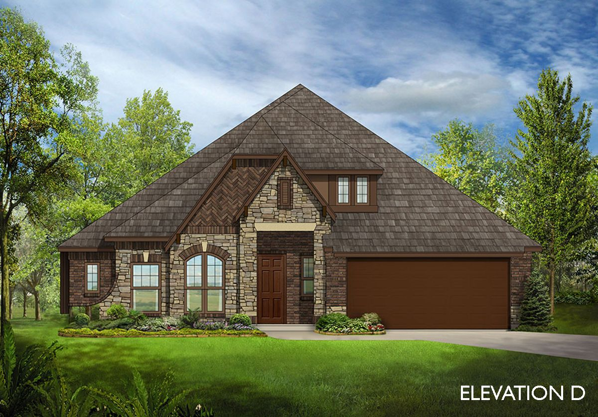 Carolina ii home plan by bloomfield homes in all for Two story farmhouse oak park