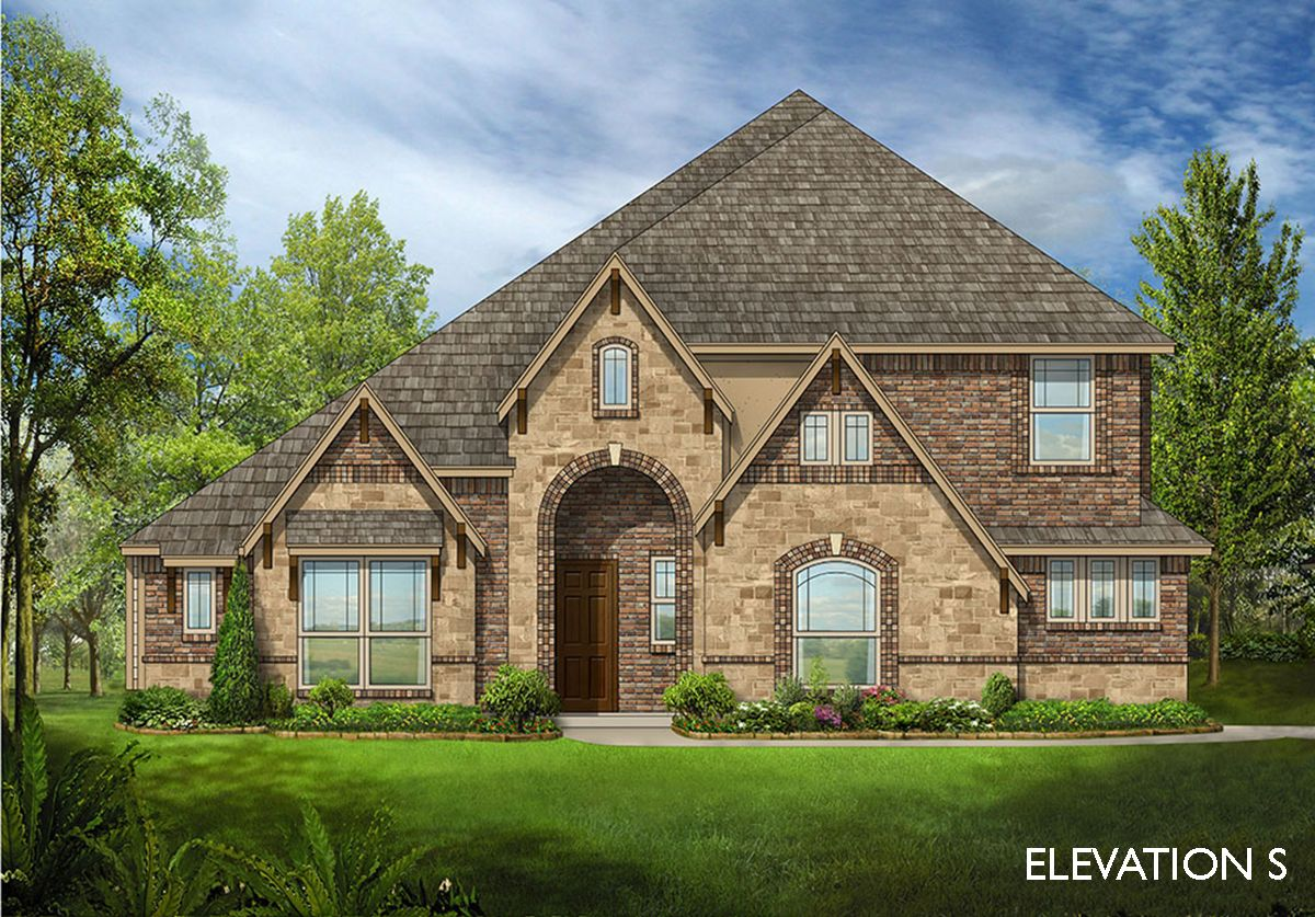 Carolina iii home plan by bloomfield homes in all for Two story farmhouse oak park