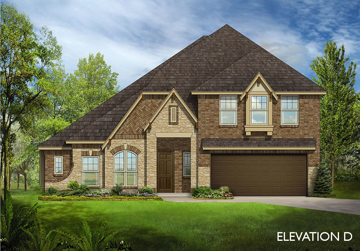 Carolina iv home plan by bloomfield homes in all for Two story farmhouse oak park