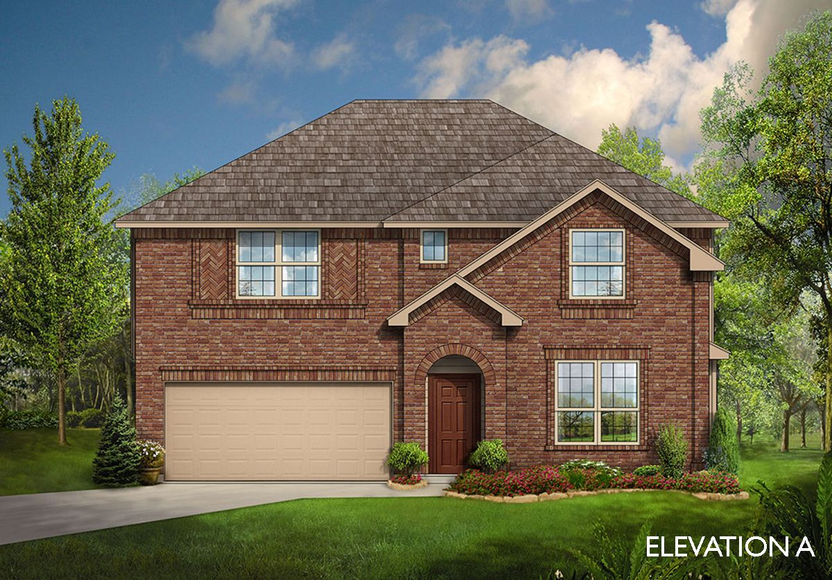 Gardenia home plan by bloomfield homes in all bloomfield plans for Two story farmhouse oak park