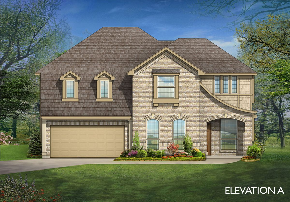 Single Floor Building Front Elevation : Magnolia ii home plan by bloomfield homes in all