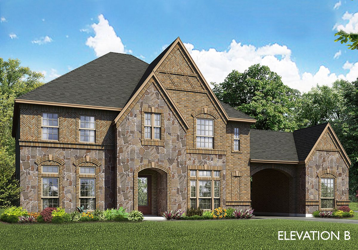 Orchid home plan by bloomfield homes in all bloomfield plans for Two story farmhouse oak park