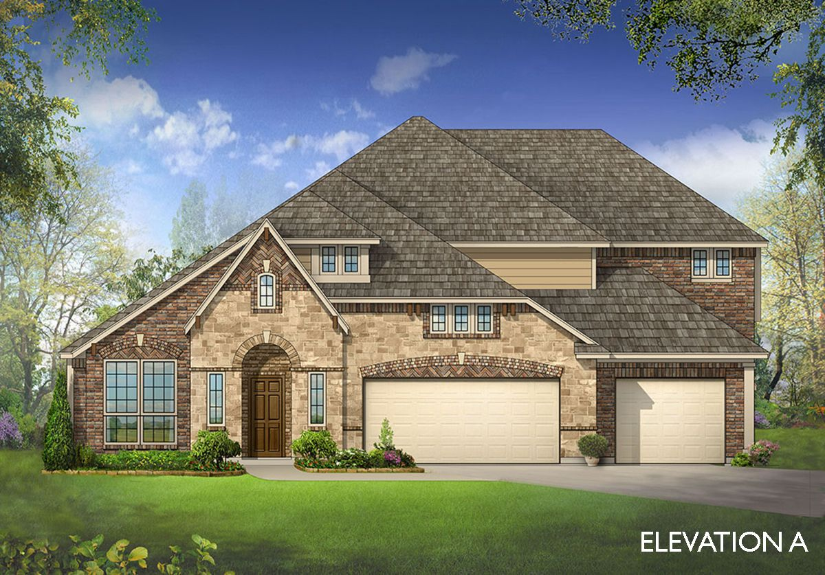 Primrose fe v home plan by bloomfield homes in all for Two story farmhouse oak park