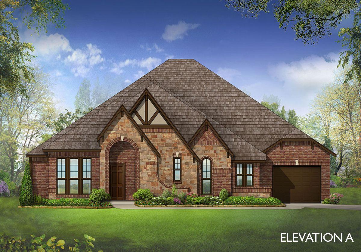 Primrose home plan by bloomfield homes in prosper lake for Two story farmhouse oak park