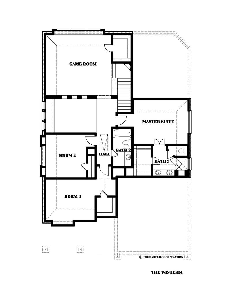 Wisteria Home Plan by Bloomfield Homes in Merriman Estates & Royal Oaks