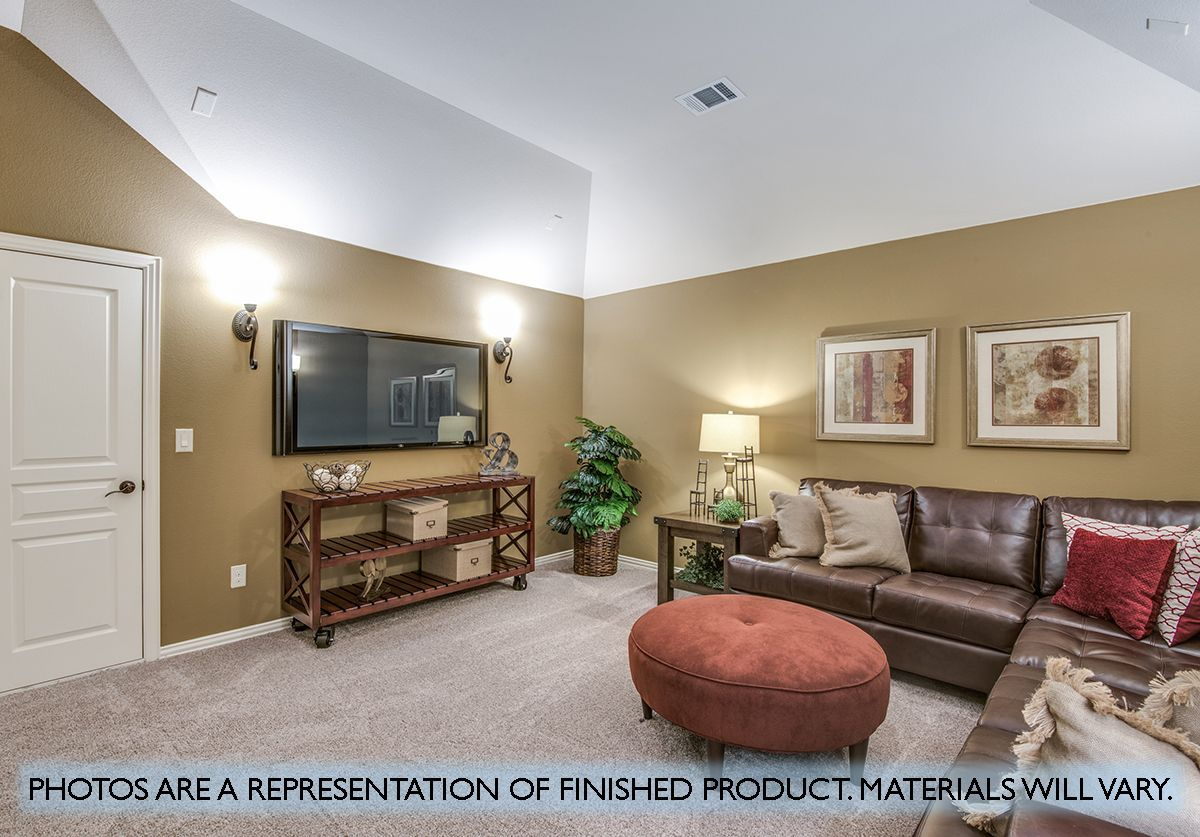 Living Area featured in the Carolina II By Bloomfield Homes in Dallas, TX