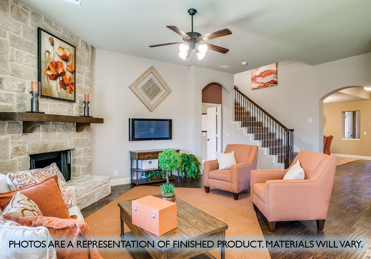 Living Area featured in the Carolina III By Bloomfield Homes in Dallas, TX