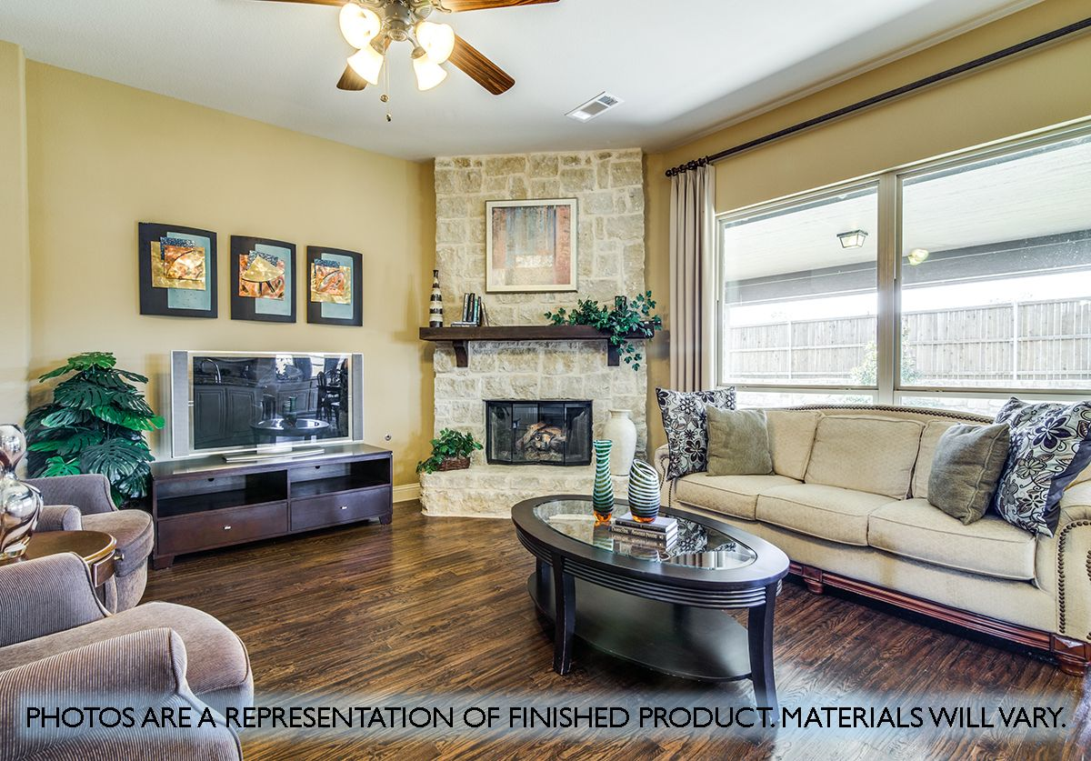 Living Area featured in the Carolina IV By Bloomfield Homes in Dallas, TX