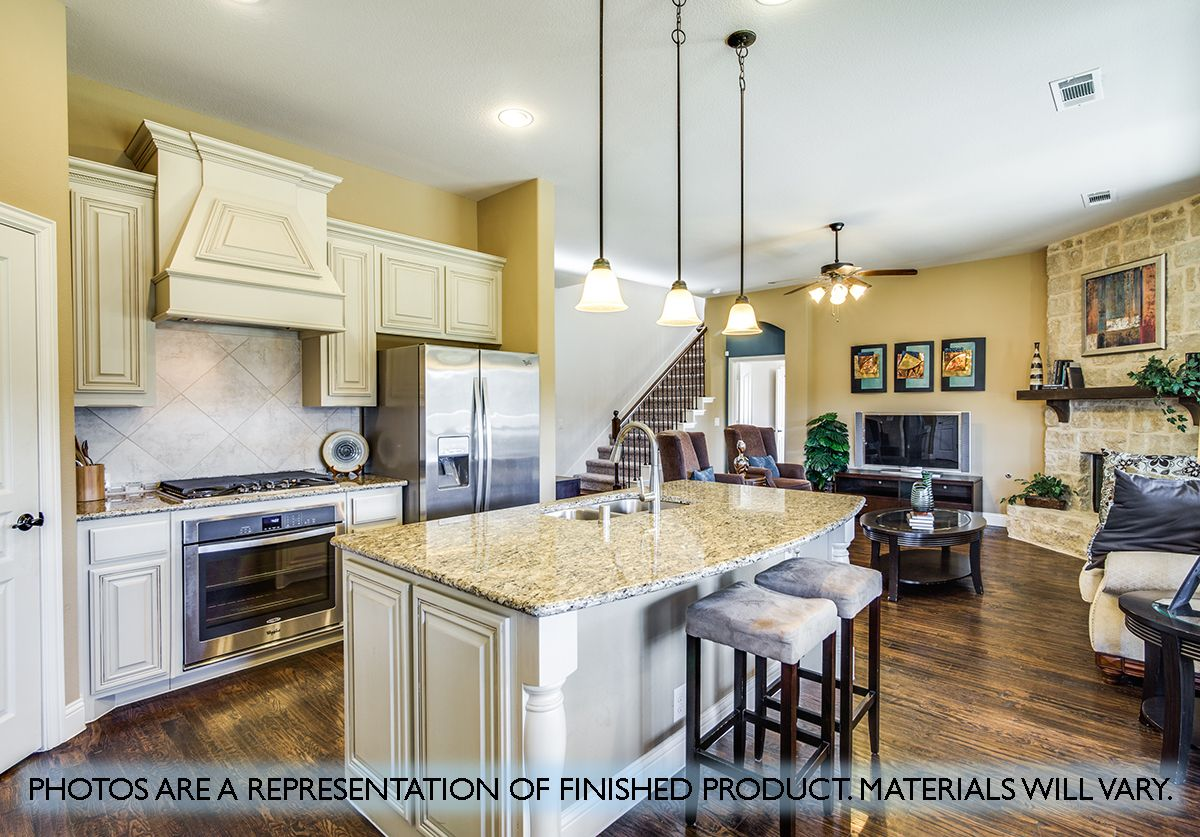 Kitchen featured in the Carolina IV By Bloomfield Homes in Dallas, TX