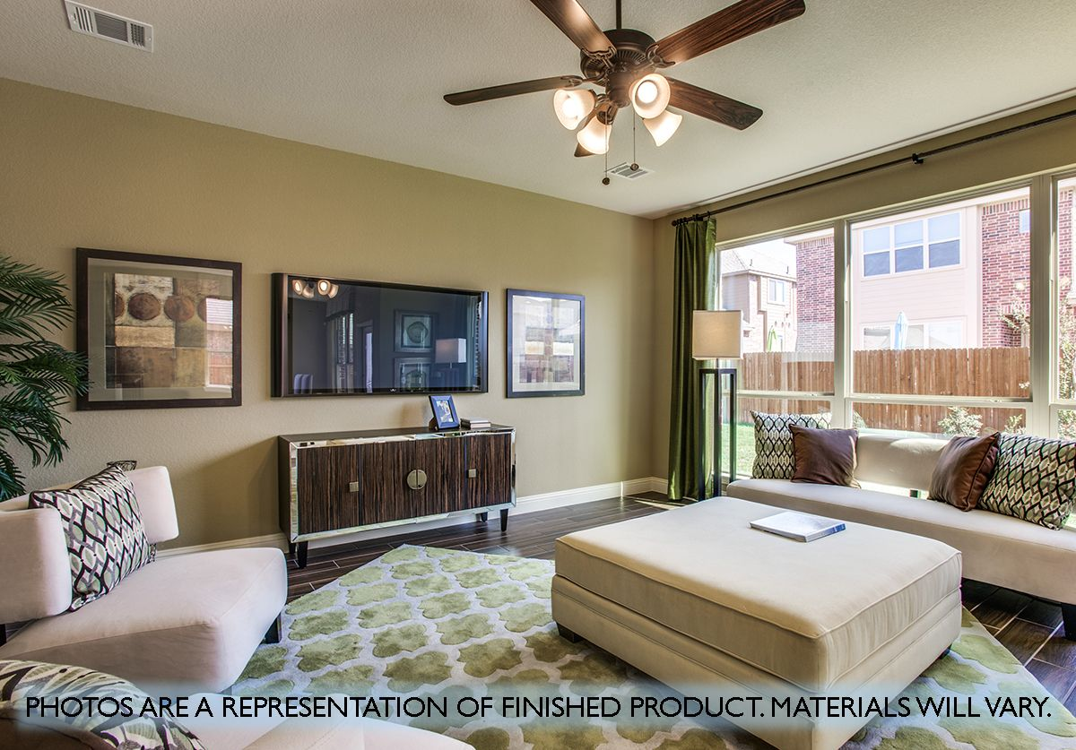 Living Area featured in the Dewberry By Bloomfield Homes in Fort Worth, TX