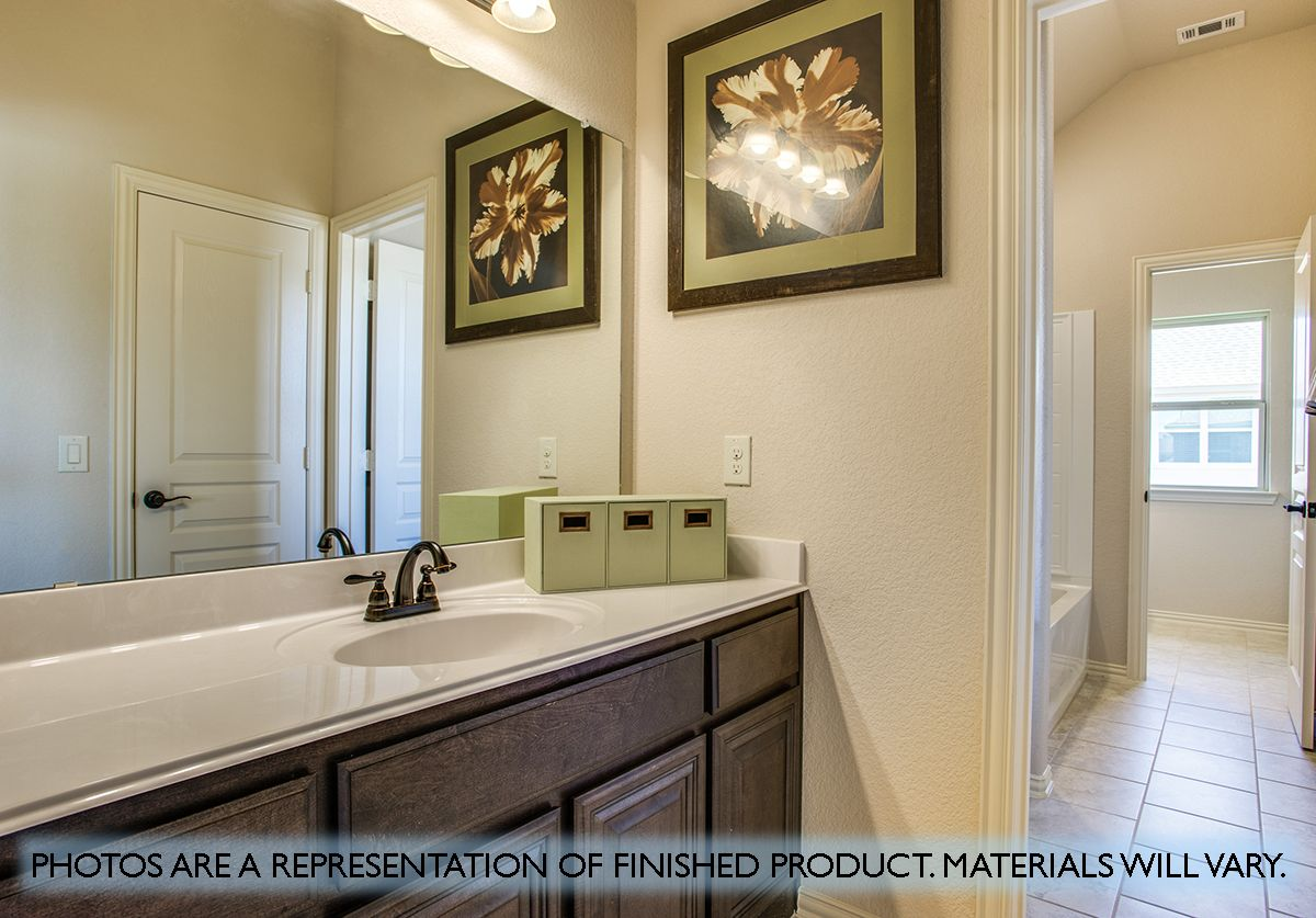 Bathroom featured in the Dewberry By Bloomfield Homes in Fort Worth, TX