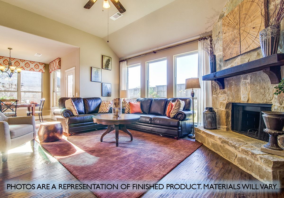Living Area featured in the Magnolia By Bloomfield Homes in Dallas, TX