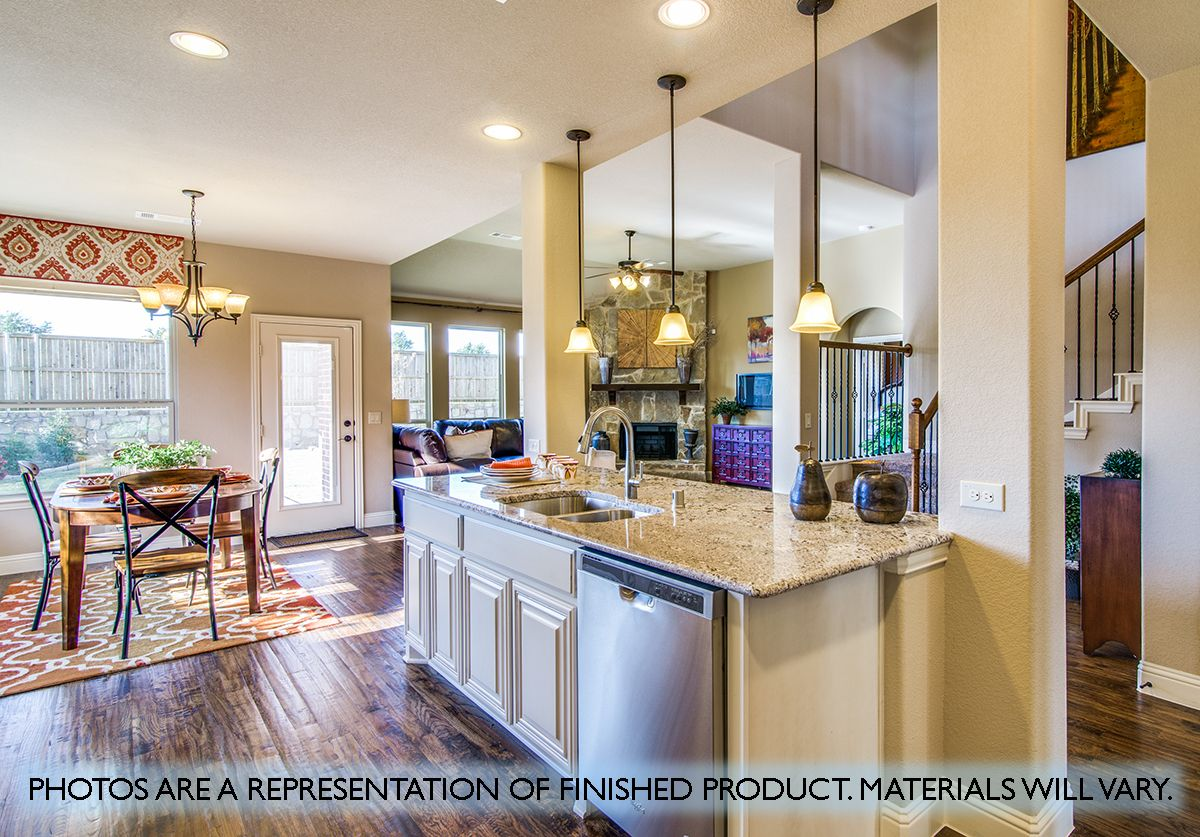 Kitchen featured in the Magnolia III By Bloomfield Homes in Dallas, TX