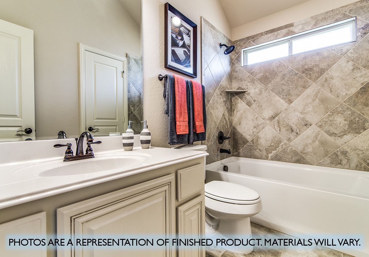 Bathroom featured in the Primrose FE V  By Bloomfield Homes in Dallas, TX