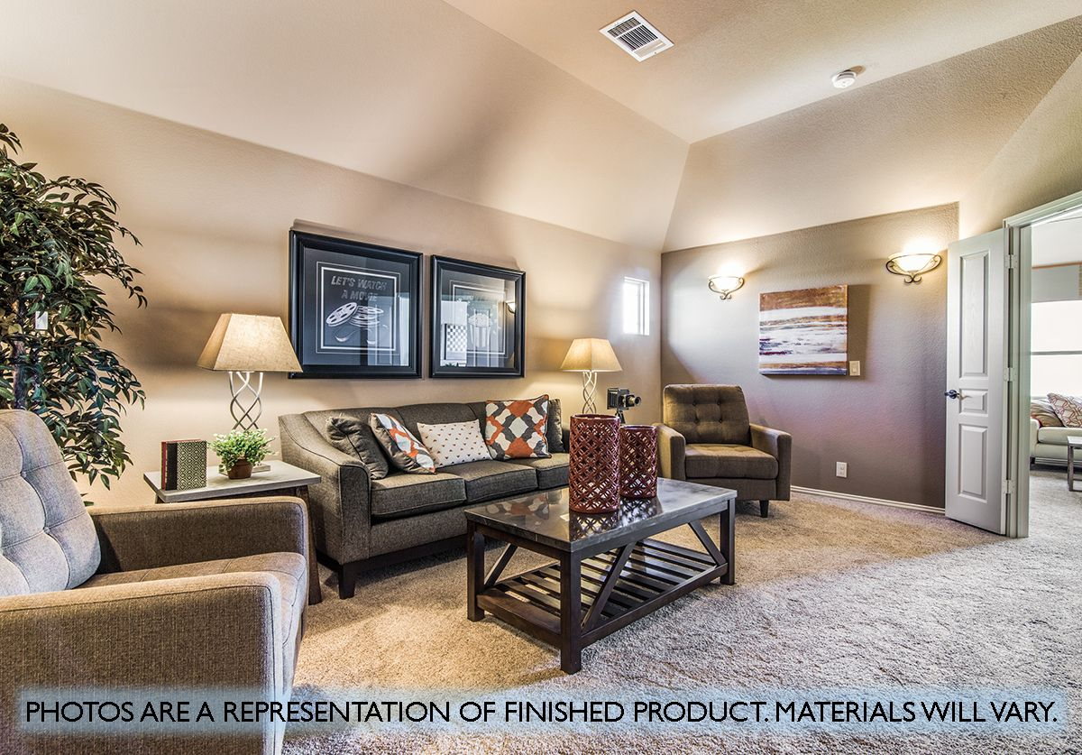 Living Area featured in the Primrose FE V  By Bloomfield Homes in Dallas, TX