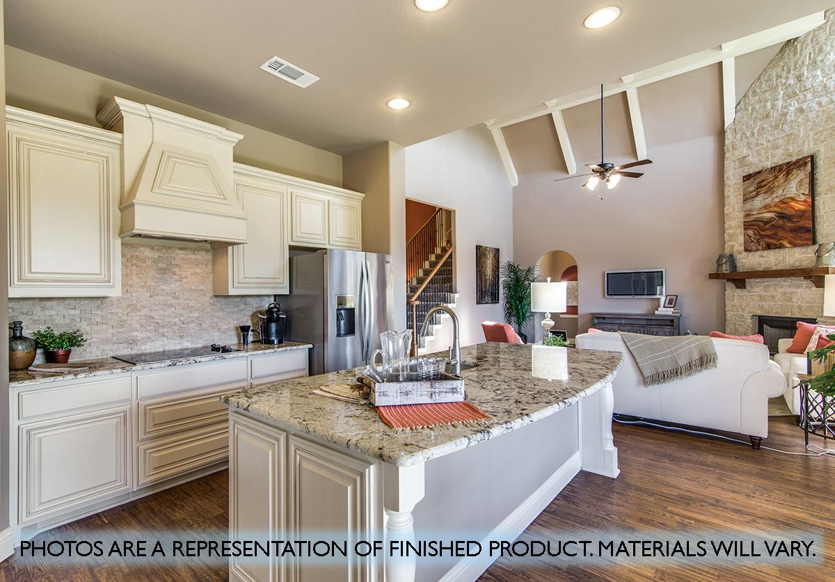 Kitchen featured in the Primrose FE III By Bloomfield Homes in Dallas, TX