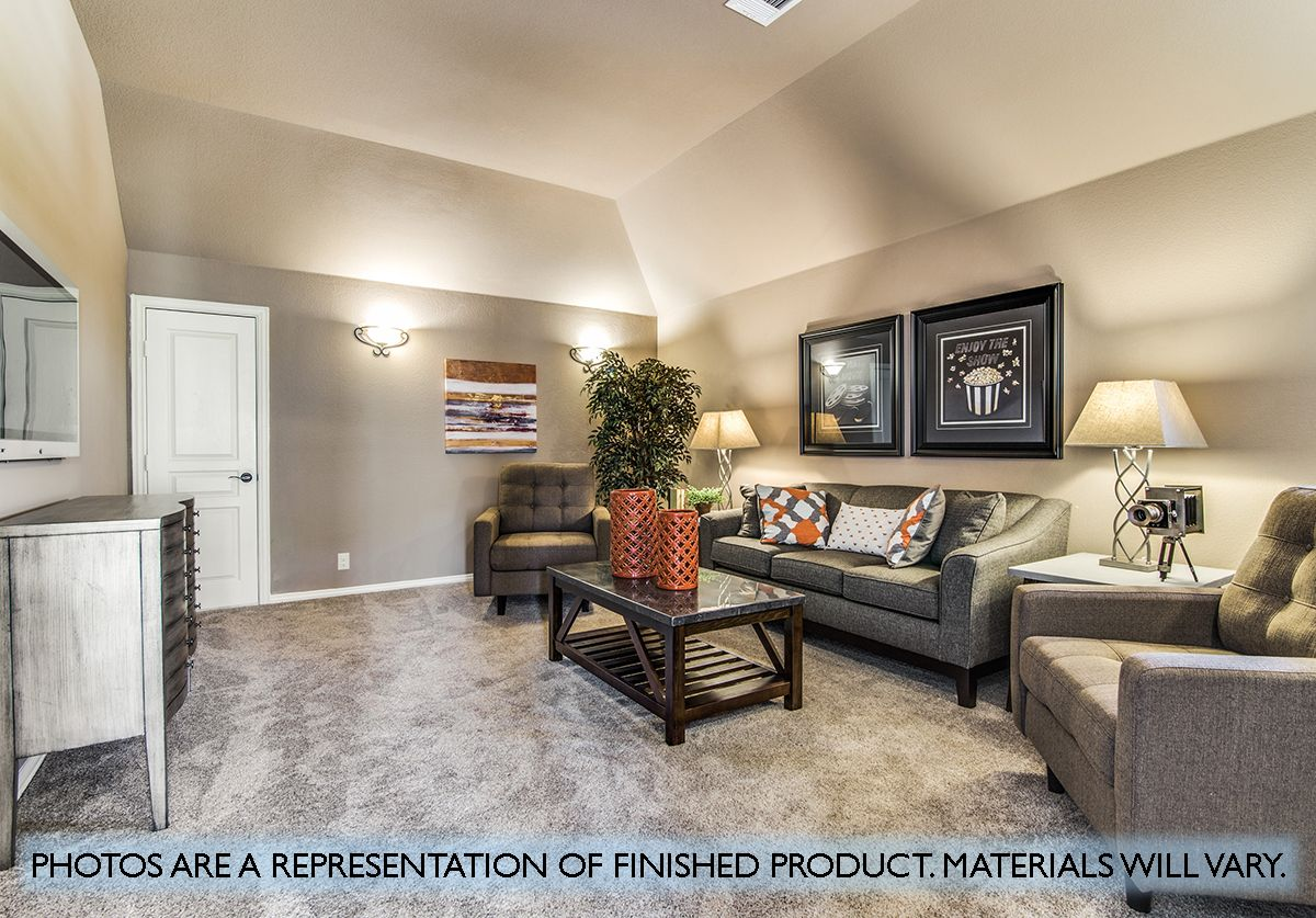 Living Area featured in the Primrose FE III  By Bloomfield Homes in Dallas, TX