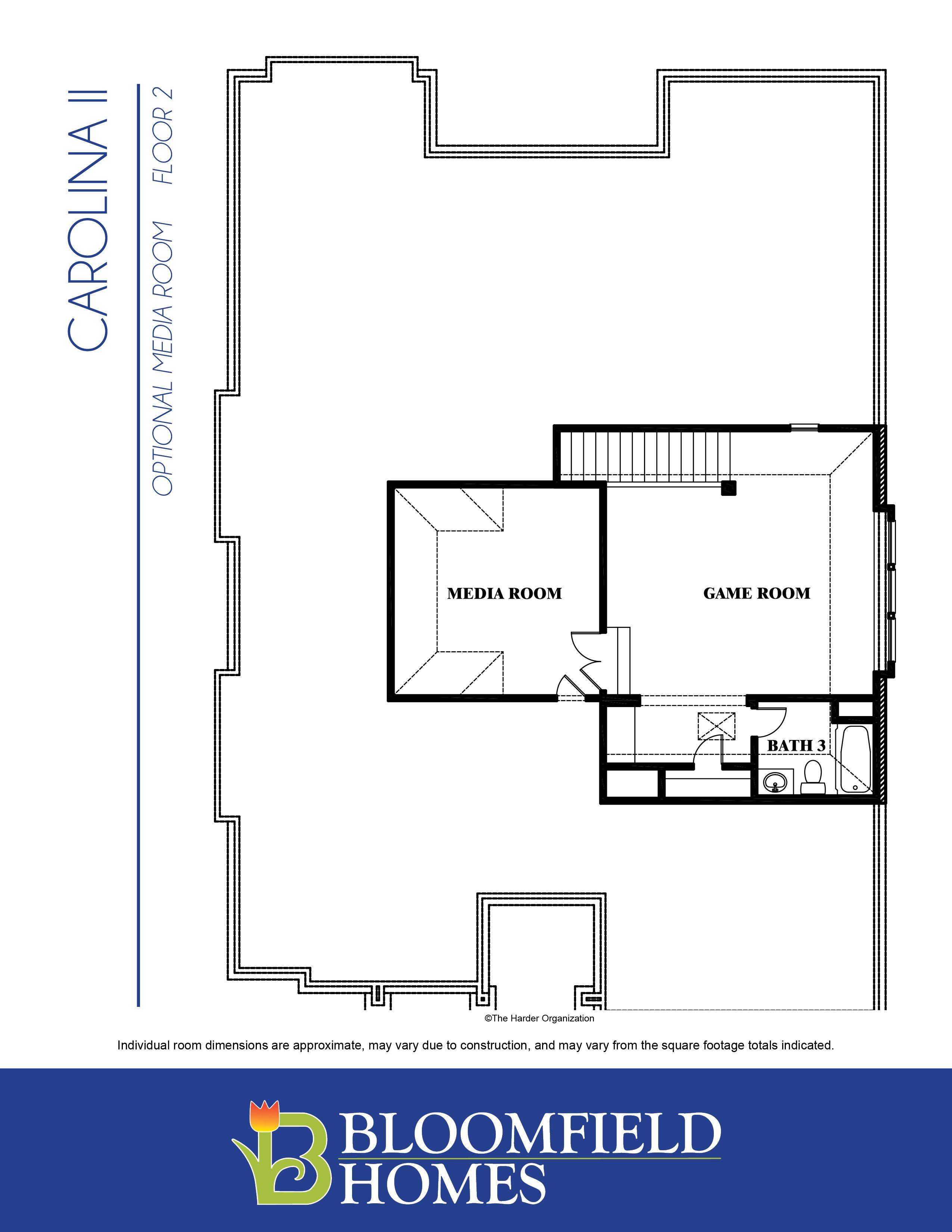 Carolina II Second Floor with Media Option