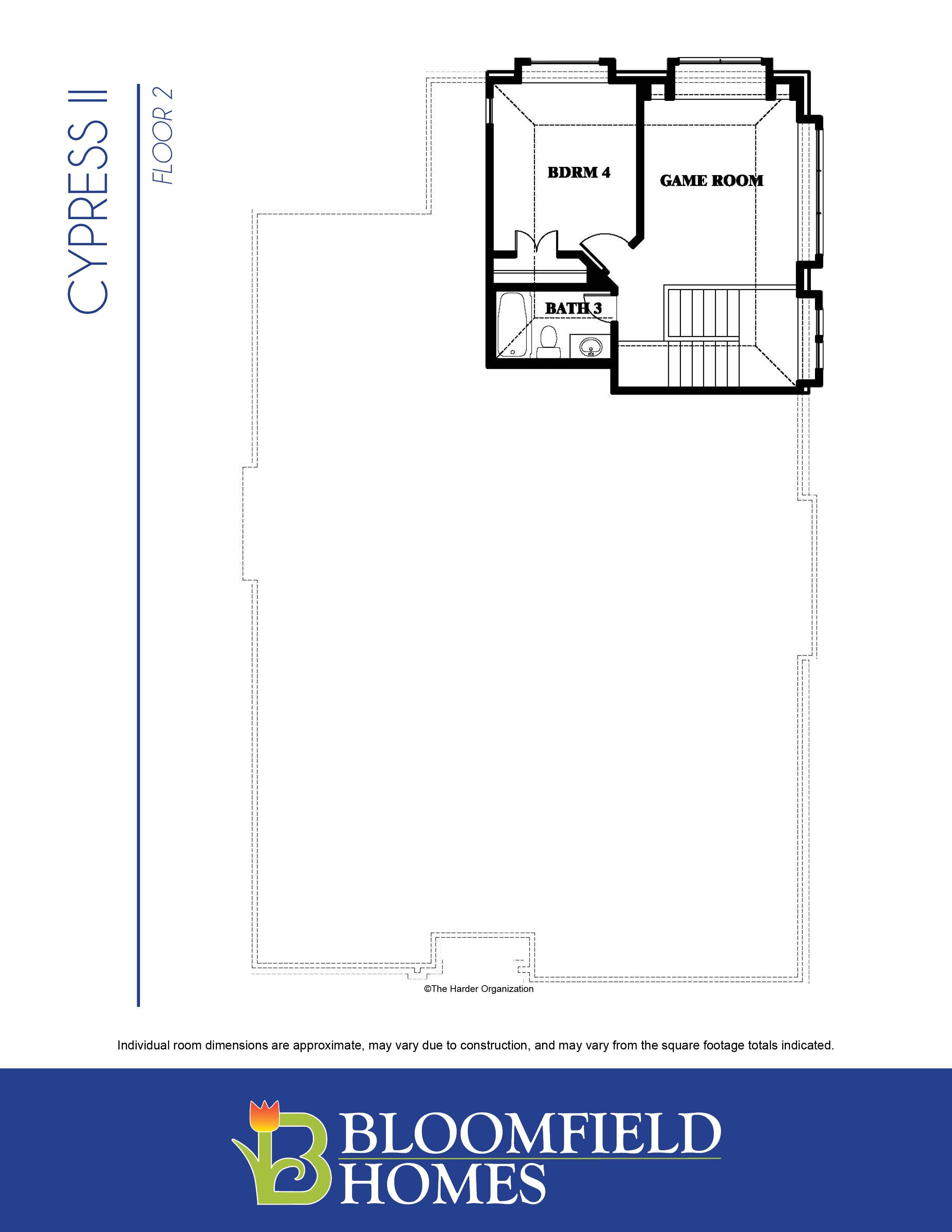 Cypress II Plan Crowley Texas 76036 Cypress II Plan at Rosemary – Bloomfield Homes Floor Plans