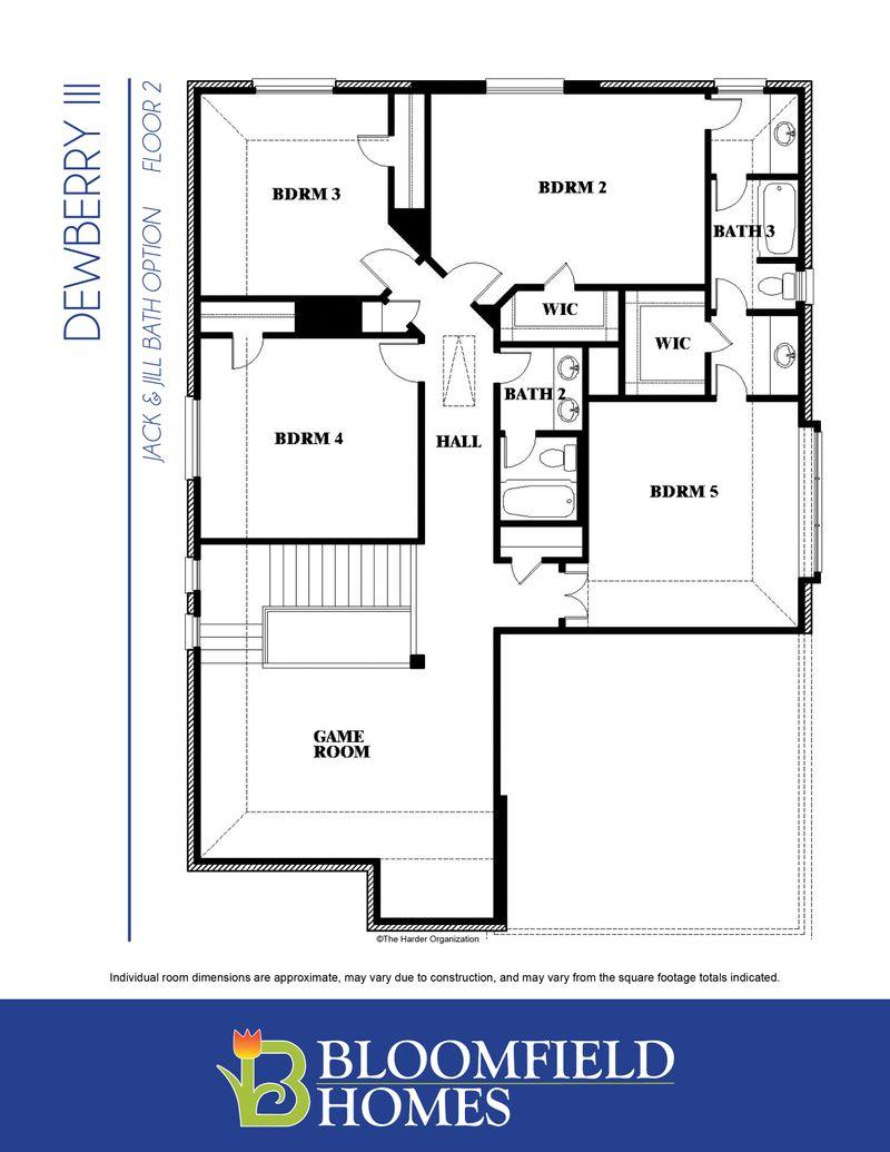 Dewberry III Floor Two with Jack & Jill bath option