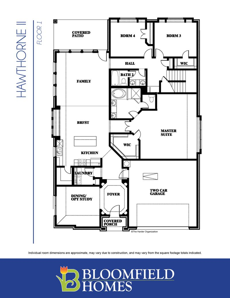 Hawthorne Floorplan | Home Builder in DFW | Bloomfield Homes on nevada home plans, tucson home plans, phoenix home plans, oceanside home plans,