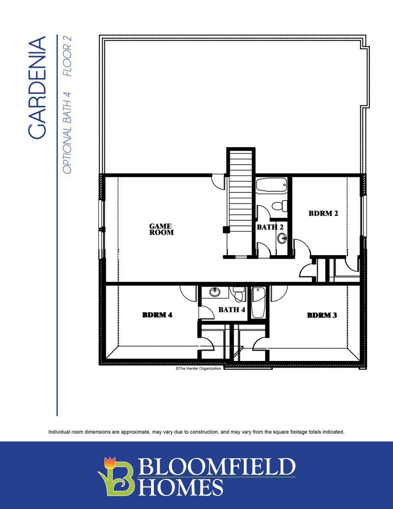 Gardenia Home Plan by Bloomfield Homes in Heartland