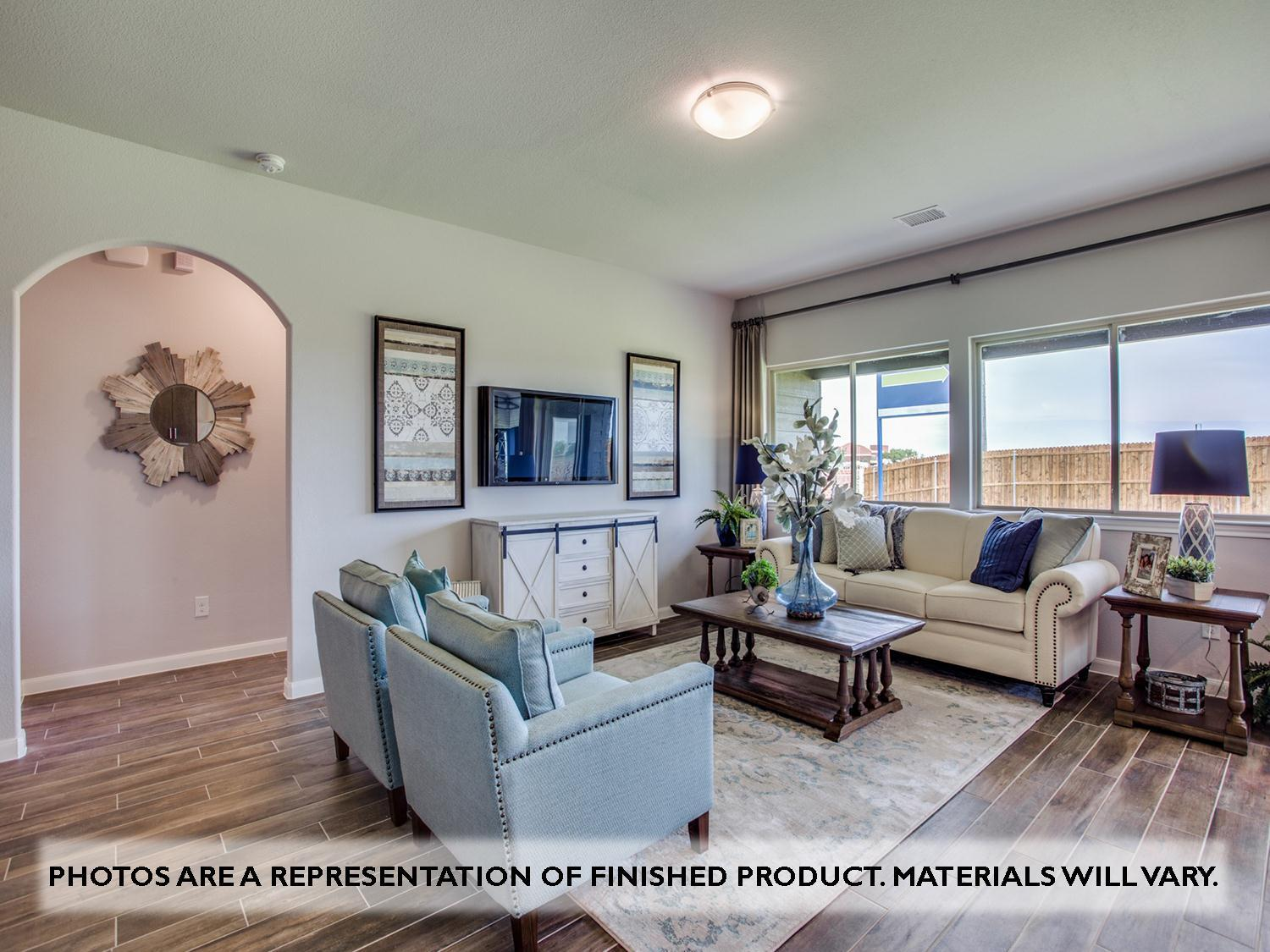 Living Area featured in the Camellia By Bloomfield Homes in Dallas, TX