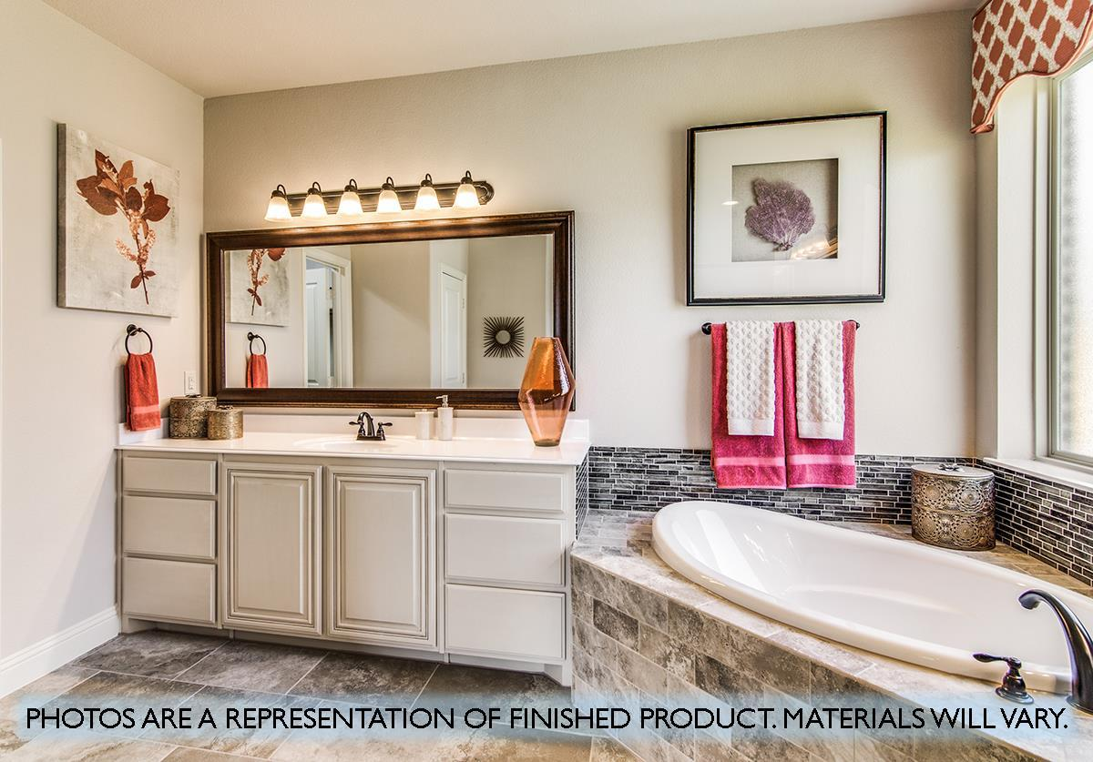 Bathroom featured in the Primrose FE IV  By Bloomfield Homes in Dallas, TX