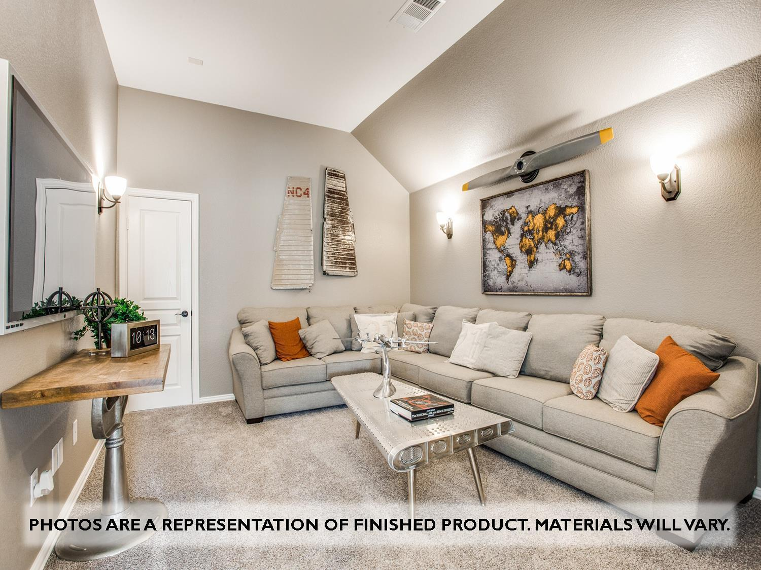 Living Area featured in the Primrose FE VI By Bloomfield Homes in Dallas, TX