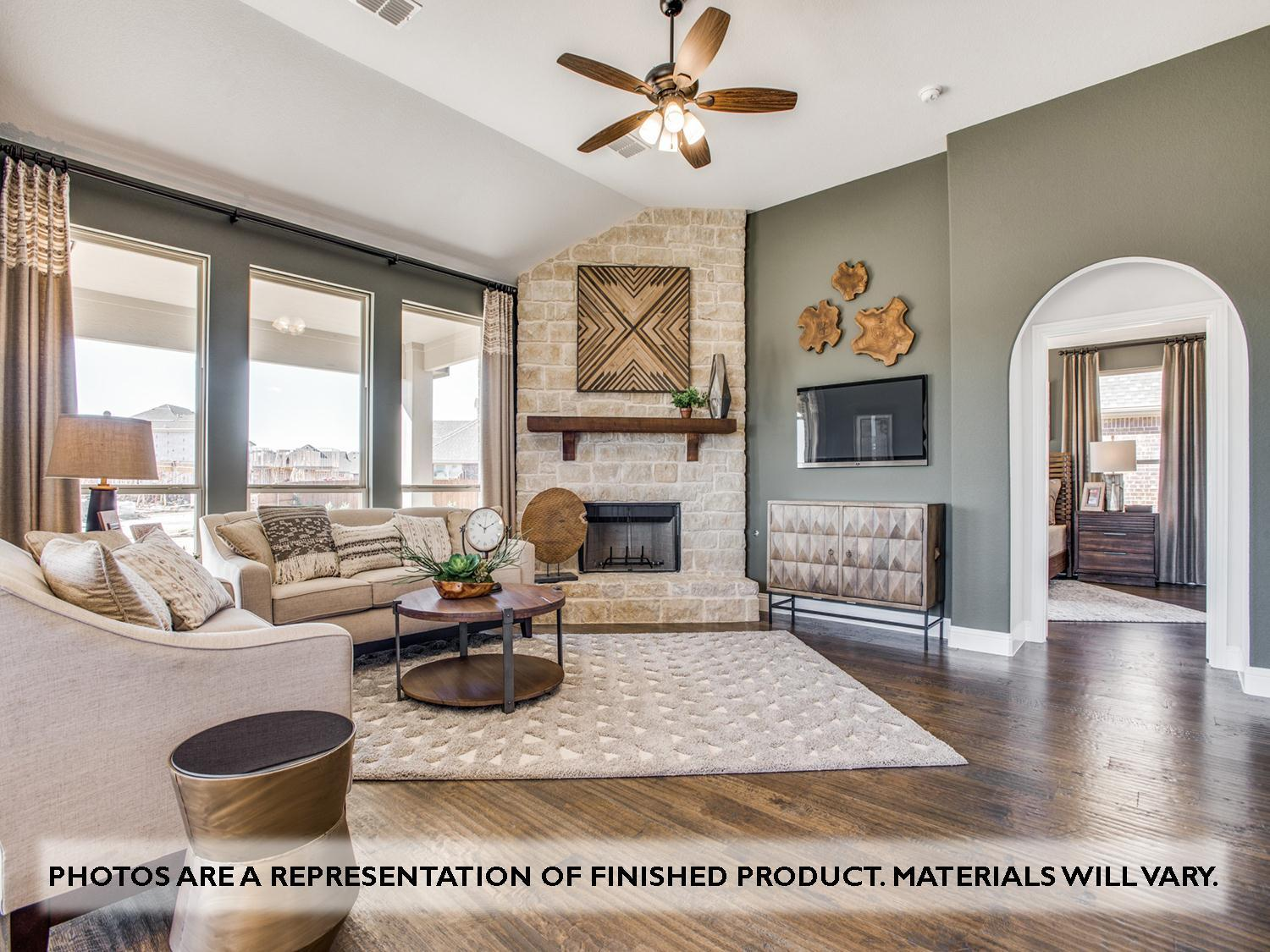 Living Area featured in the Magnolia II Side Entry By Bloomfield Homes in Dallas, TX