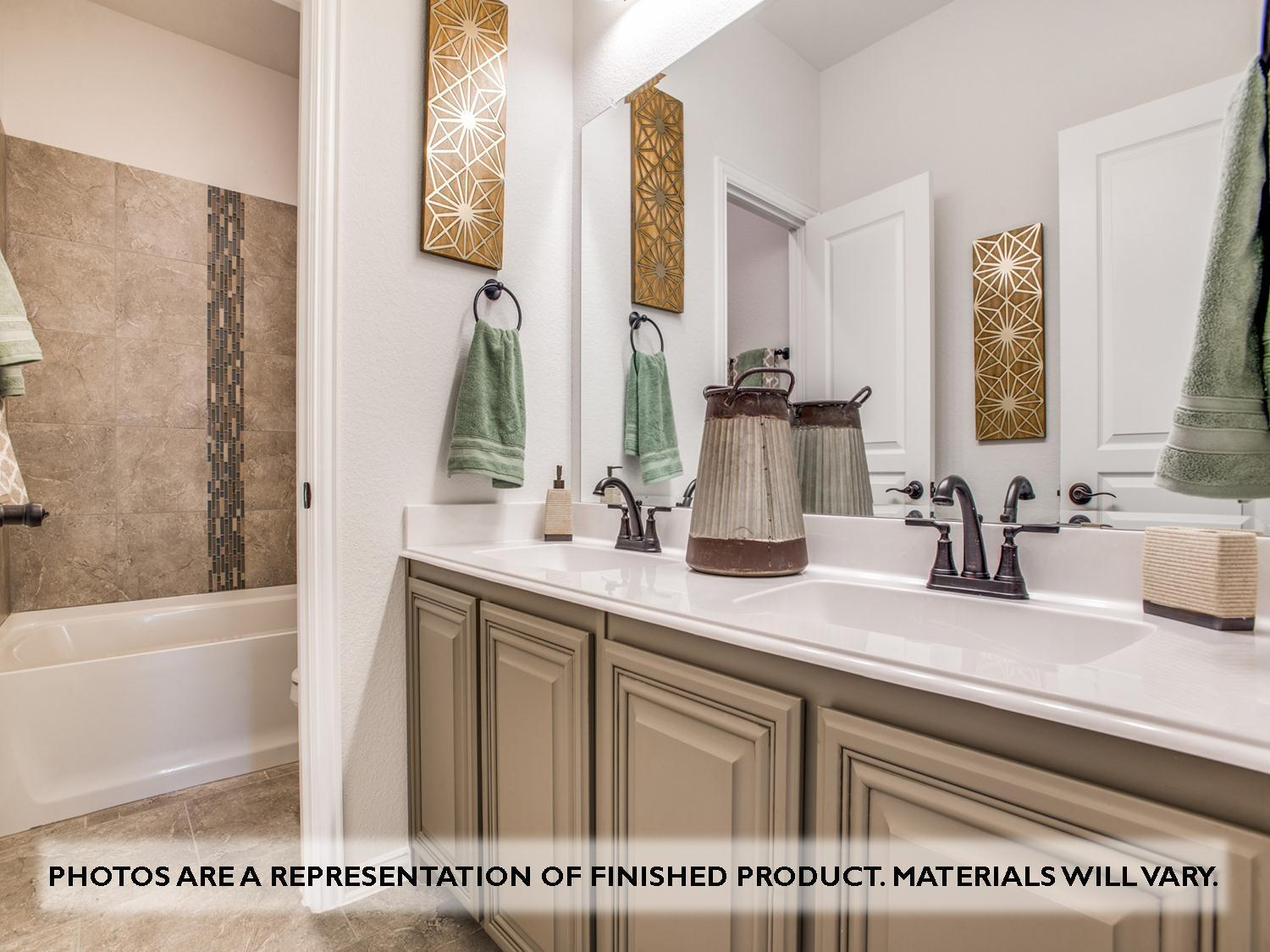 Bathroom featured in the Magnolia II Side Entry By Bloomfield Homes in Dallas, TX