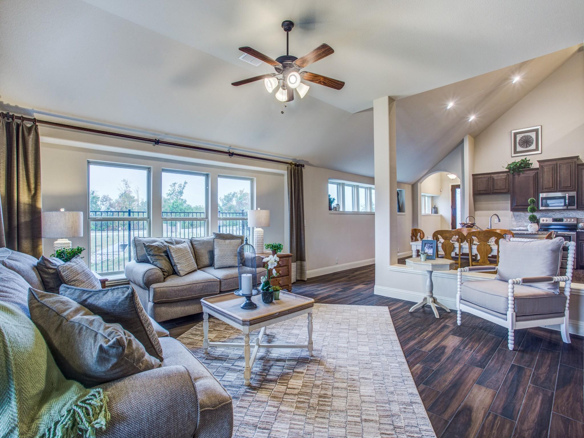 Living Area featured in the Dogwood By Bloomfield Homes in Dallas, TX