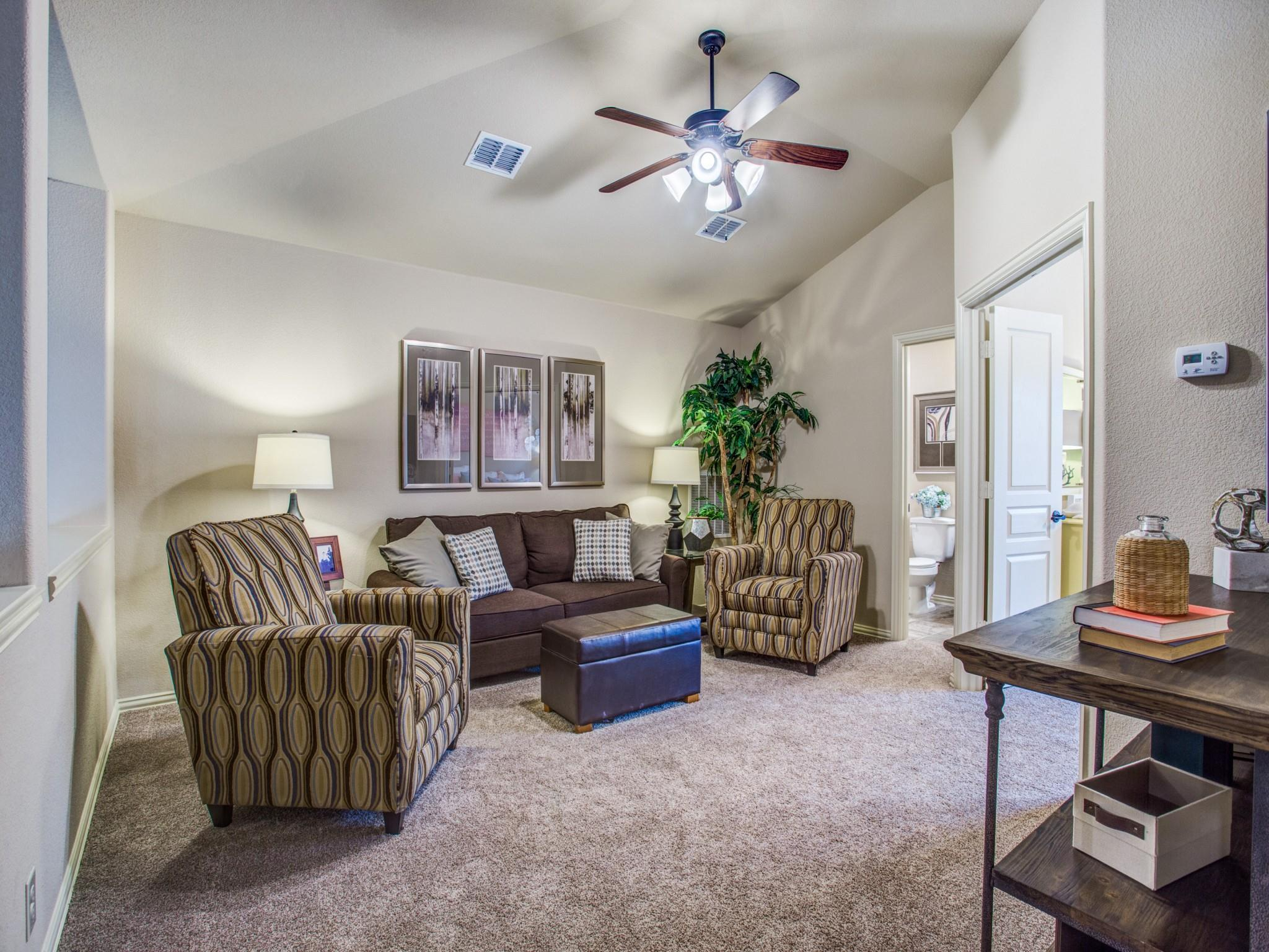 Living Area featured in the Dogwood III By Bloomfield Homes in Dallas, TX