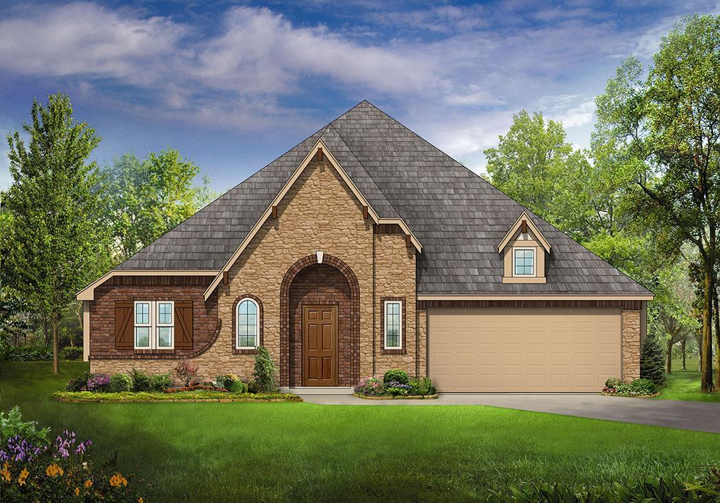 Exterior featured in the Hawthorne II By Bloomfield Homes in Fort Worth, TX