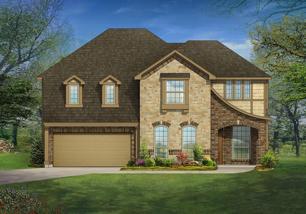 Exterior featured in the Magnolia III By Bloomfield Homes in Dallas, TX