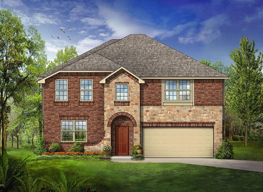 Exterior featured in the Woodrose By Bloomfield Homes in Dallas, TX