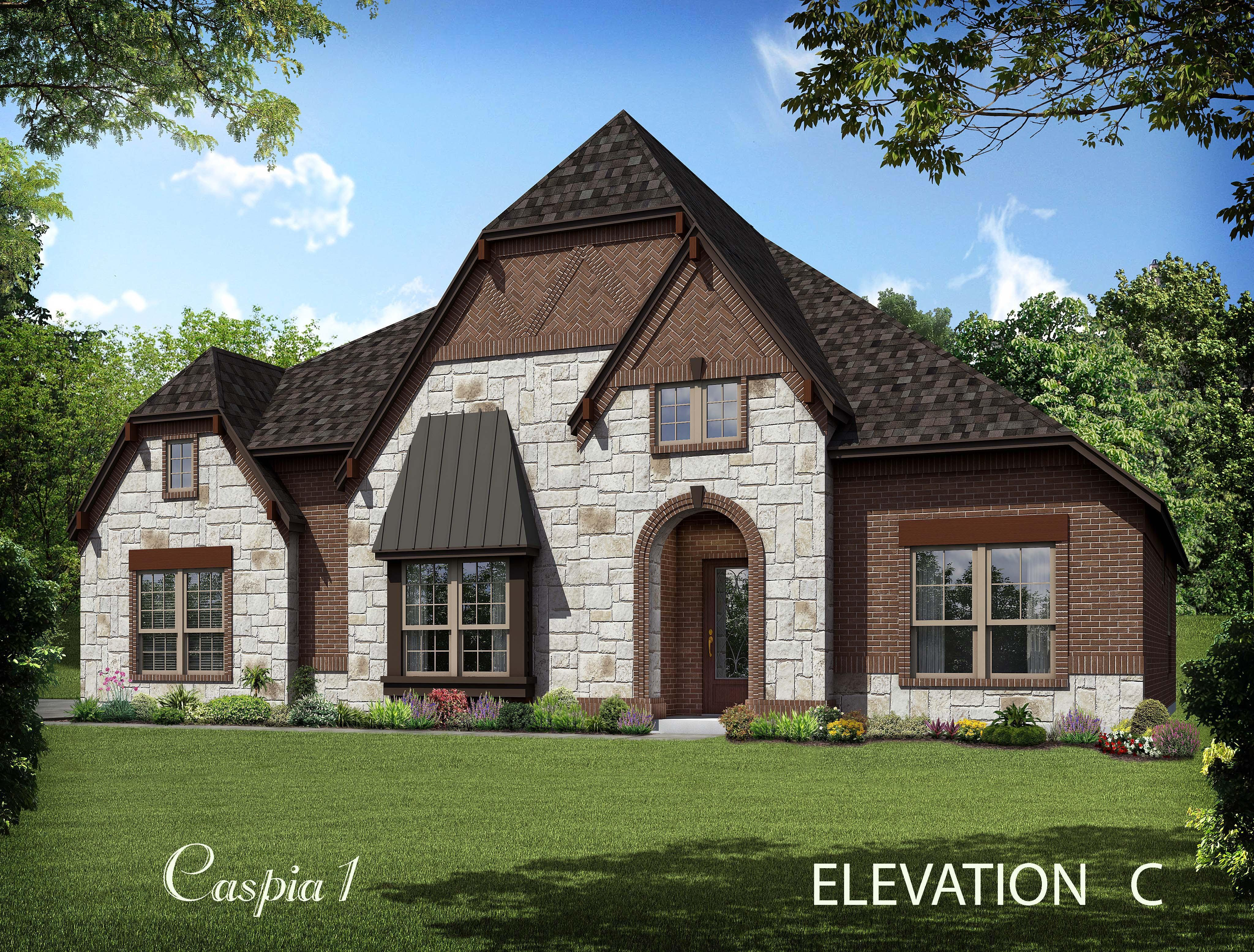 Exterior featured in the Caspia By Bloomfield Homes in Dallas, TX